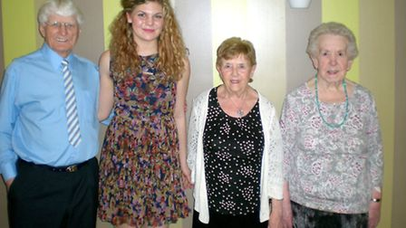Afternoon Entetainment for Residents of Millbrook House. Harriet with CLM Volunteers.