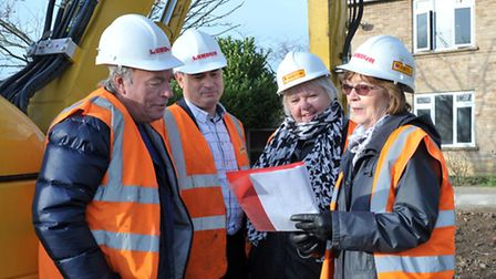 Work starting on new Wimblington GP surgery at North Witchford Lodge. Cllr Dave Connor, Dr Simon Ha