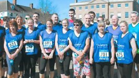 Delamore running for 2 good causes, The Alzheimers Society and Cancer Research UK.
