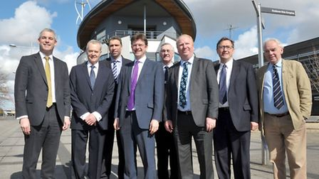 Secretary of State for Communities and Local Government Greg Clark MP. Visit to Wisbech. Picture: St