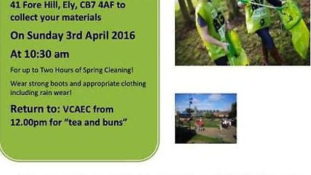 Ely will hold a 'Pick and Choose Clean Up' this Sunday (April 3).