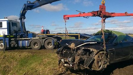 March man, 66, arrested on suspicion of perverting the course of justice after Aston Martin crash ea
