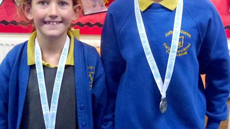 Brother and sister swimming duo, Alex and Zoe Wilson, who attend Anthony Curton Primary School at Wa