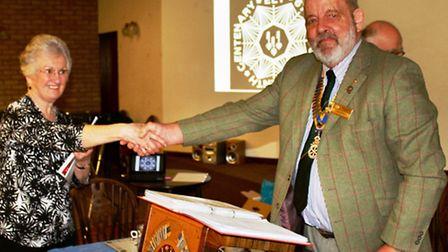 Olive Newton inducted by John Dennick