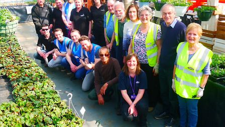 Volunteers from March Street Pride/In Bloom, CUB and AmeyCespa at Delfland.