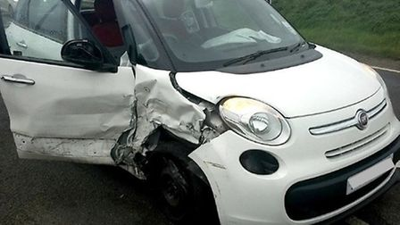 Collision on the A10 at Brandon Creek
