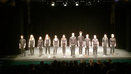 Neale-Wade students performing 'What Are They Like?' at Norwich Playhouse