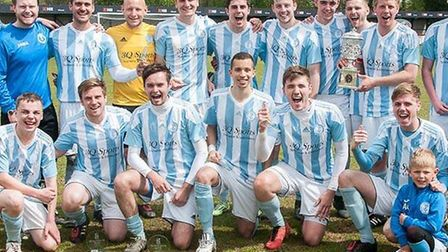 Chatteris Town's William Cockell Memorial Cup winning squad. Photo: Steve Snell
