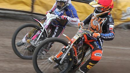 Mildenhall Fen Tigers' Connor Mountain (right).