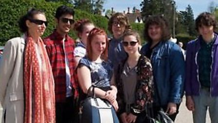 A group from Thomas Clarkson Academy at the Hare Krishna Temple