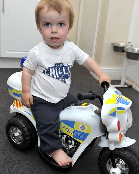 Toby lives a normal life despite having a form of dwarfism. Picture: Steve Williams.