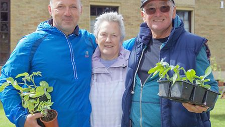 St Peters Church, March. Garden and Flower Festival from 2015. Left: Paul Roberts, Ina Rassell and P