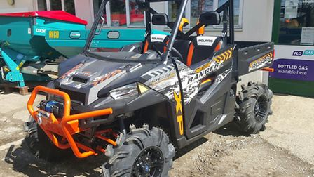 One of the Polaris Ranger vehicles stolen in the theft