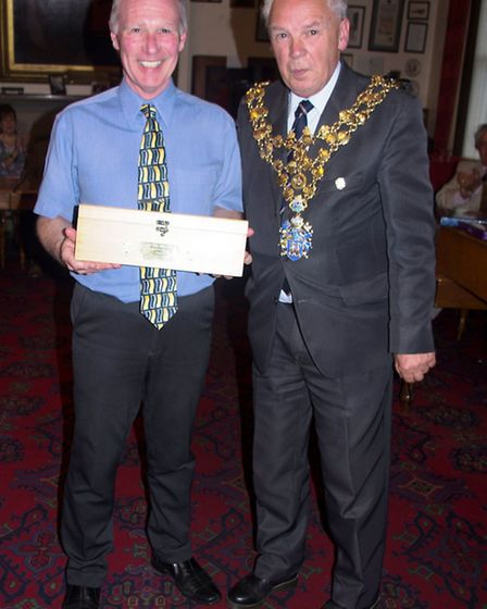 Wisbech Mayor David Hodgson makes cheque presentations to local charities