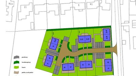 Site of 14 homes proposed for 7 Sutton Road, Witchford