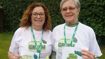 Volunteers are encouraging people to Go Green for Macmillan in March