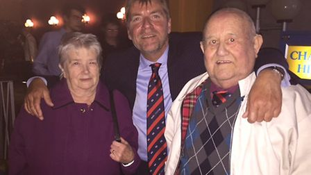 Jen and Cliff Munns, with Grand UK Holidays founder, Paul Bennett.