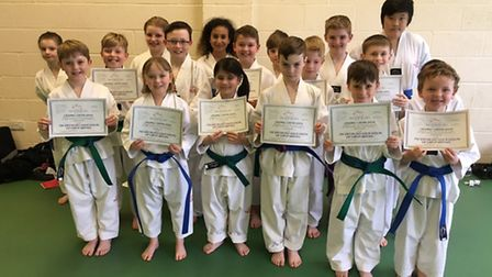 The Stage 3 Juniors at the Ely branch of the Mark Farnham Schools of Tae Kwon-Do.