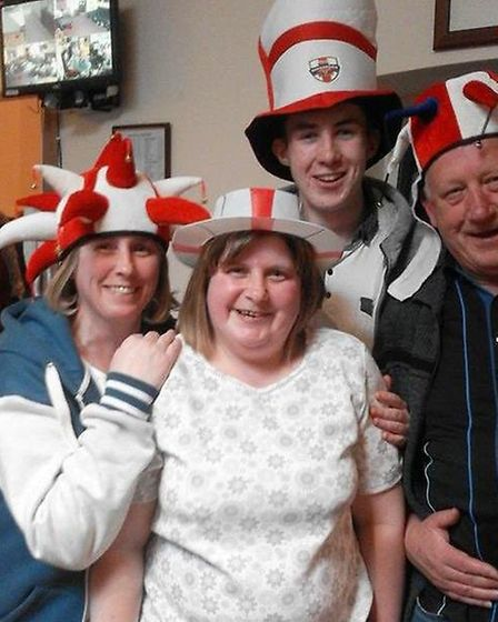 Wisbech St George's Day celebrations at the Ex-servicemen's Club