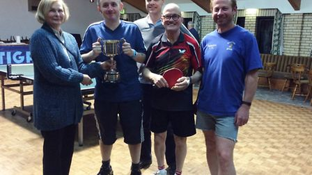The winners at this year's Ely and District Table Tennis League closed tournament.