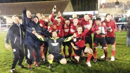 Fordham celebrate their Junior Challenge Cup final victory.