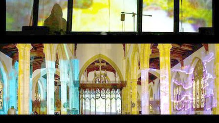 'Beacon', Live event in St. Johns Church, Dec 2012, photo by Luke Payn