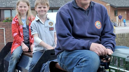 Ely Model Railway Club held its 38th annual exhibition. Harry and Lilly Bell take a train ride with