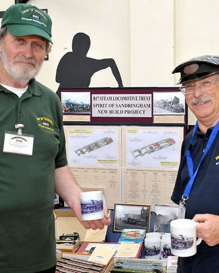 Ely Model Railway Club held its 38th annual exhibition. Left: Peter Wright and Adrian Wright, B17 St