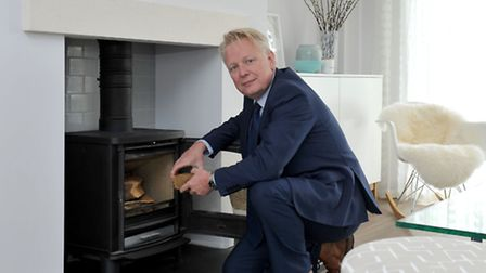 The Community Land Trust Show home. Director, Mark Peck from Cheffins. Picture: Steve Williams.