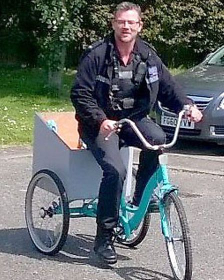 PC Chris Dykstra in recovering the stolen property to Ely police station