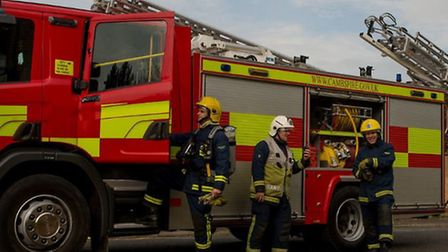Two caravans catch fire in Great Drove, Reach, East Cambridgeshire