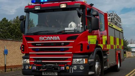 Campervan catches fire on A605 Kings Delph, Whittlesey