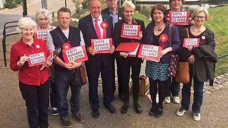 Euro MP Richard Howitt joins Remain Ely campaigners