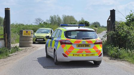 Mick George Quarry, Block Fen, Mepal, where a human head was found on Monday May 16. Picture: Steve