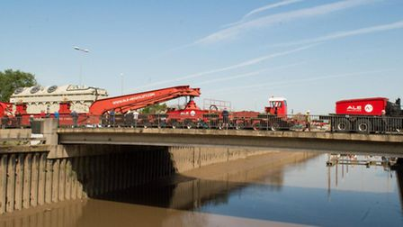 Abnormal load through Wisbech heading for the new Walpole sub station.