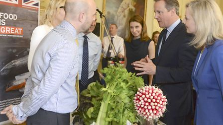 David Cameron hosts a 'Food is Great' reception to showcase the UKs food and drink industry. There w