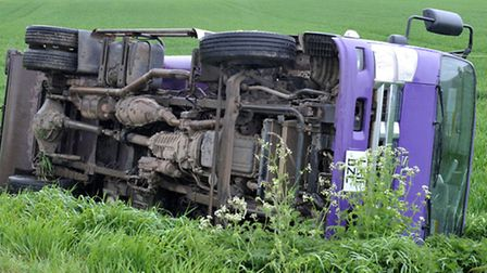 Fenland District Council lorry RTC. Picture: Steve Williams.