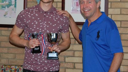Ely Squash and Leisure's Club Tournament winner, Ryan Bamber (left).
