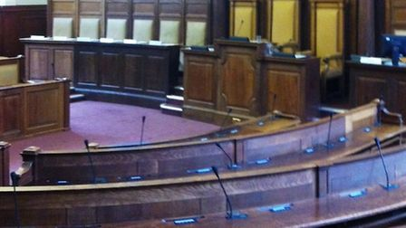 Council chamber at Shire Hall today