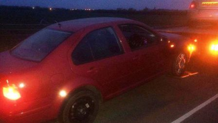 Illegal immigrants from Peterborough arrested in Northbank, Whittlesey - uninsured car also seized