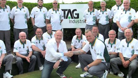 New shirt sponsorship for Whittlesey Manor Bowls Club.