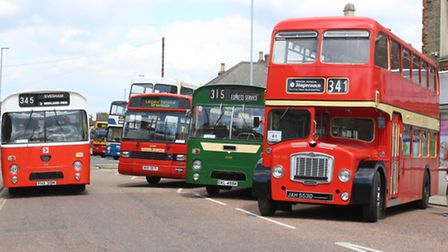 Vintage buses and coaches took over Whittlesey and could be seen across the Fens at the Fenland BusF