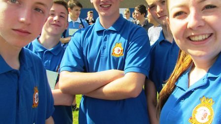 Some of the 1220 (March) air cadets ready to compete