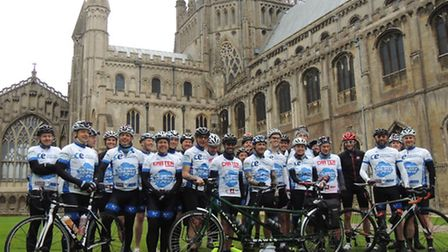Cyclists will be pedalling their hearts out after they left Ely for a 300 mile octagonal shaped bike