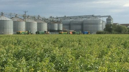 Tractors backing up at the site of Fengrain