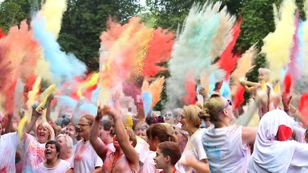 The East Anglian Children's Hospices (EACH) Colour Dash race is to come to King's Ely on Saturday Au