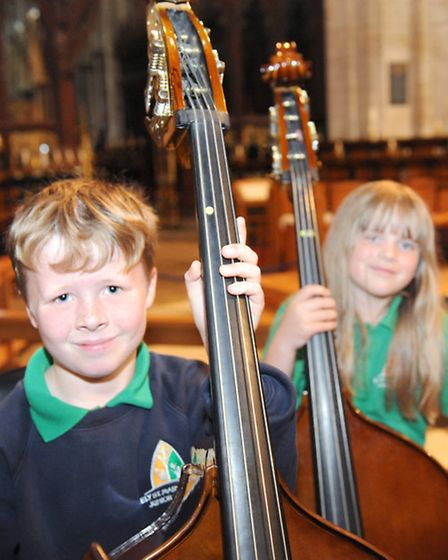 Ely St Marys C of E Junior School Yr3 String Project. Picture: Rob Morris.