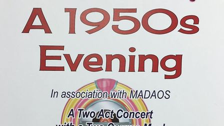 MADAOS is holding a 1950s event next weekend
