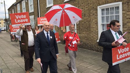 Iain Duncan Smith was campaigning in Chatteris