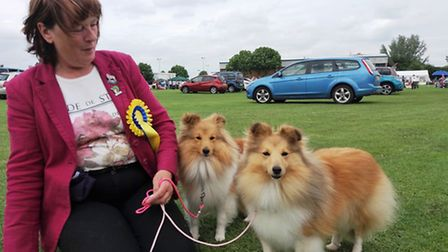 Littleport Dog Show: Stowmarket's Lindsay French and her two competing Shelties Pebbles and Sadie